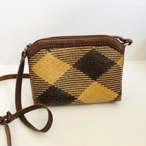 Vintage Elliot Lucca Woven Straw Bag